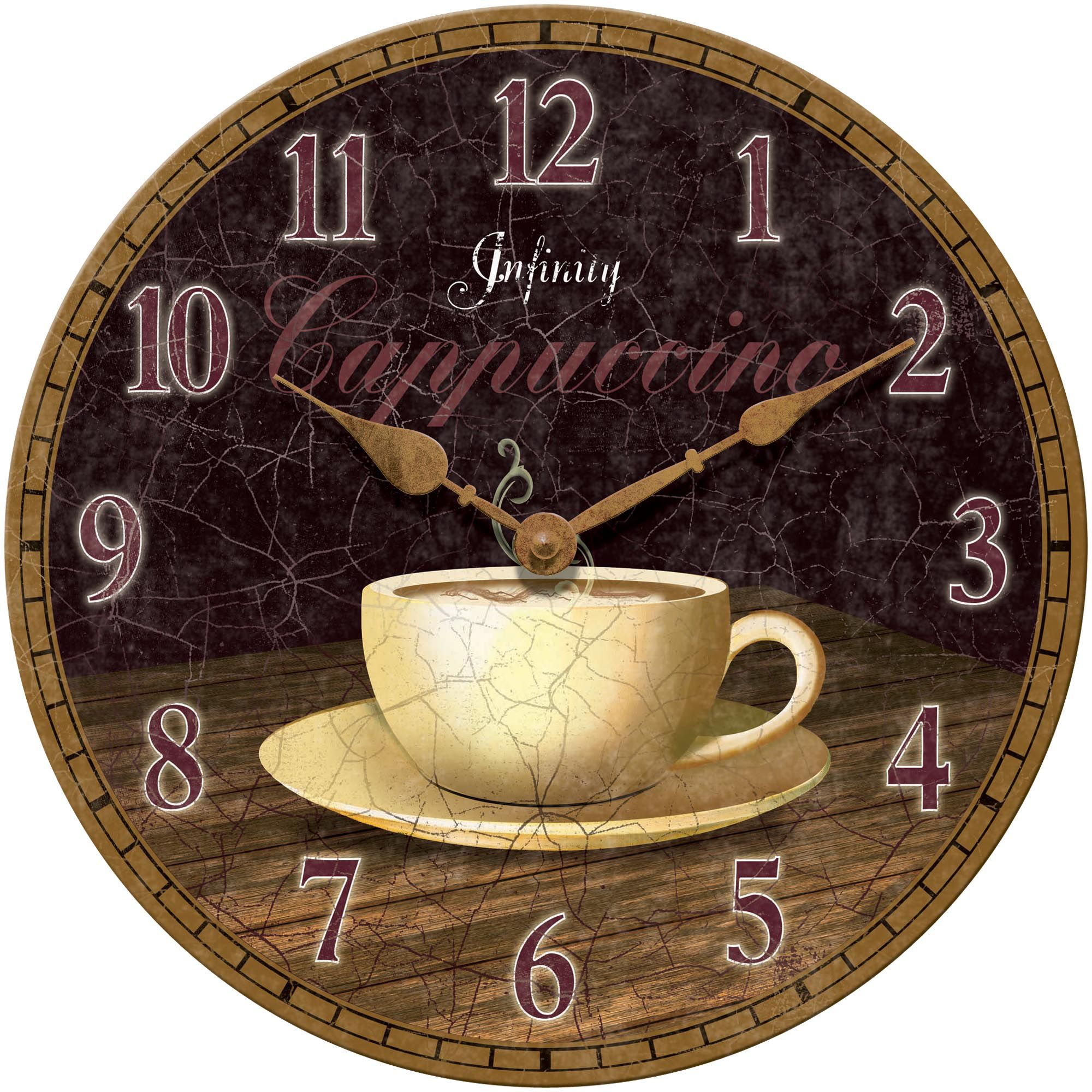 Dreamy Cappuccino by Infinity Instruments clock coffee decor