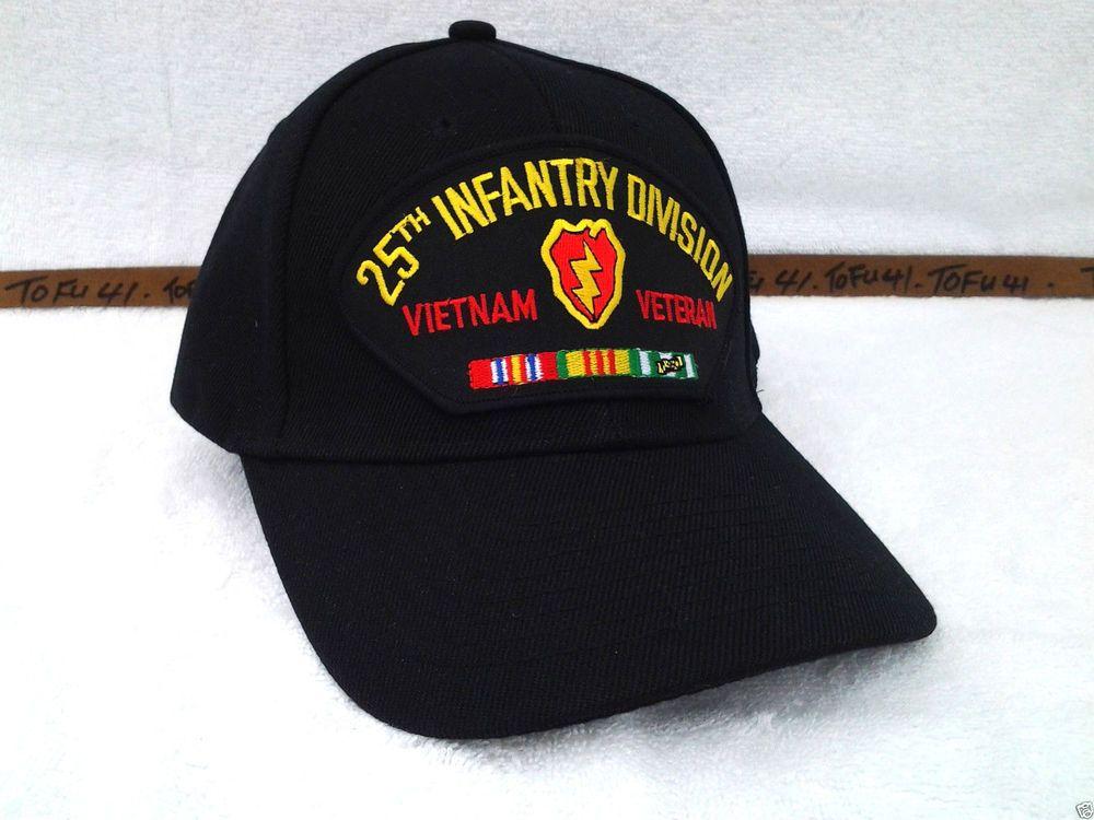 ... australia 25th infantry division vietnam vet black military veteran us  army hat 451 vveb 938f6 c5ac4 2759cd938c06
