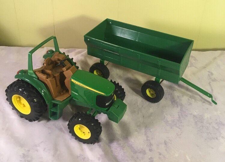 ERTL JOHN DEERE Tractor Trailer Die Cast Toy Farm #ERTL #JohnDeere