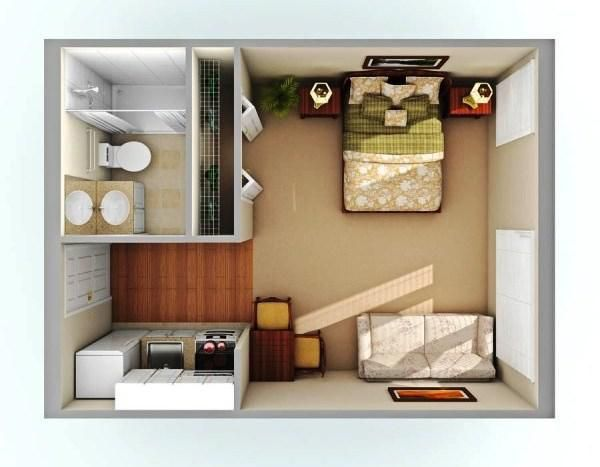 Simple 300 Sq Ft Studio Apartment Layout Ideas In 2020 Studio Apartment Layout Apartment Layout Tiny Studio Apartments