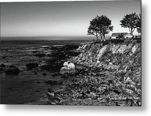 Coastal living black and white metal print by judy vincent coastal metals and prints