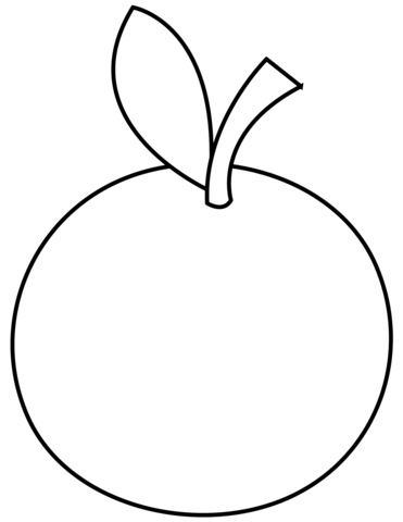 Basic Orange Coloring Page Coloring Pages Fruit Coloring Pages Apple Coloring Pages