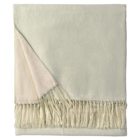 Crafted from bamboo art silk, this luxurious fringed throw transforms your bed into a restful retreat or adds plush comfort to your favorite arm chair. ...
