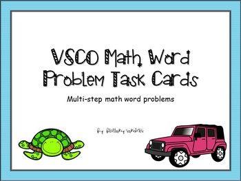VSCO Girls, VSCO themed Math Word Problem Task Cards