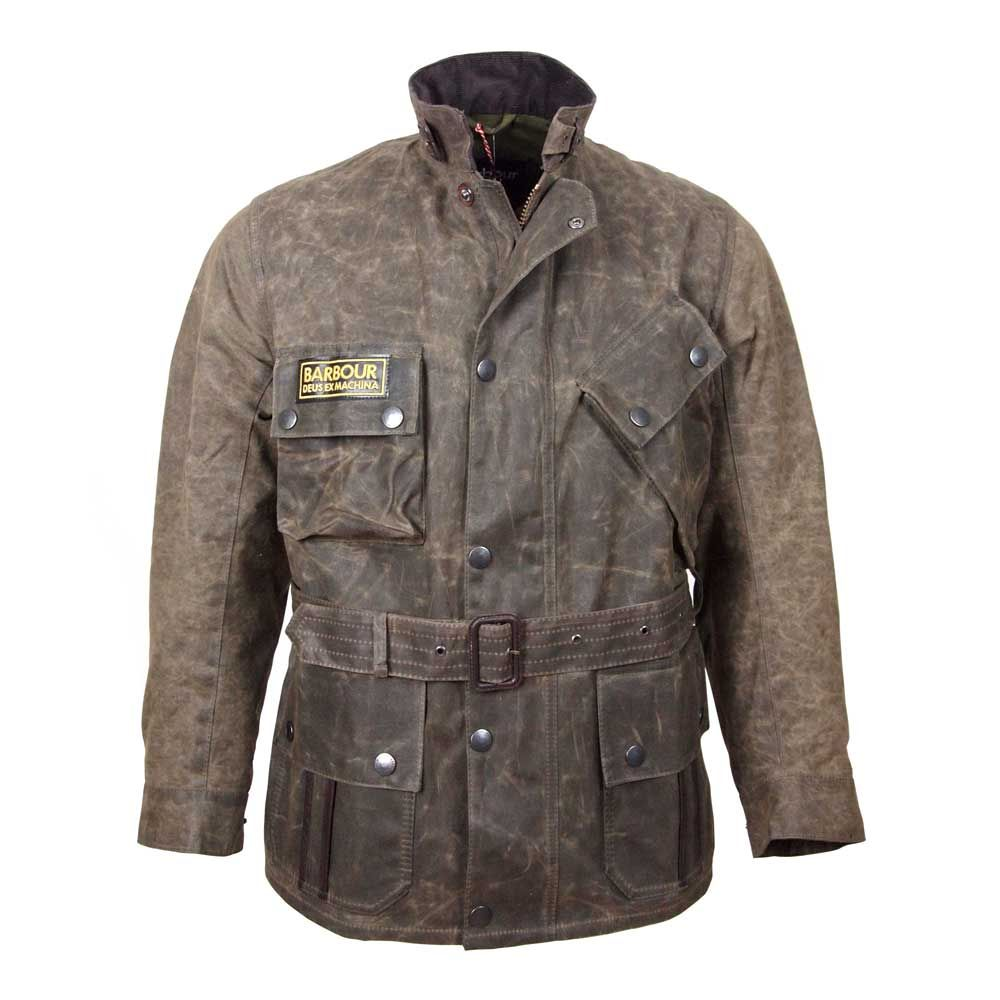 The Barbour International Horace Jacket Is A Collaboration Between Heritage Motorcycling Brand Barbour And Australi Leather Riding Jacket Jackets Riding Jacket