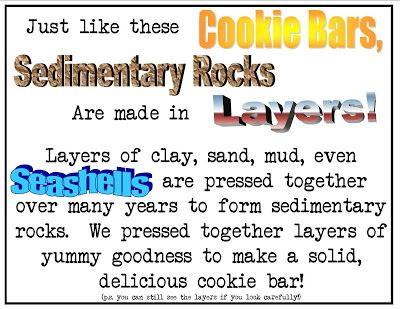 How To Make Sedimentary Rocks Out Of Food