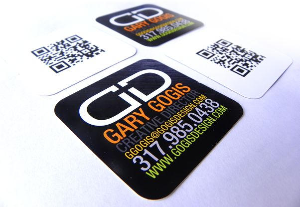 Gogis design square business cards with qr code on the back modern gogis design square business cards with qr code on the back colourmoves Gallery