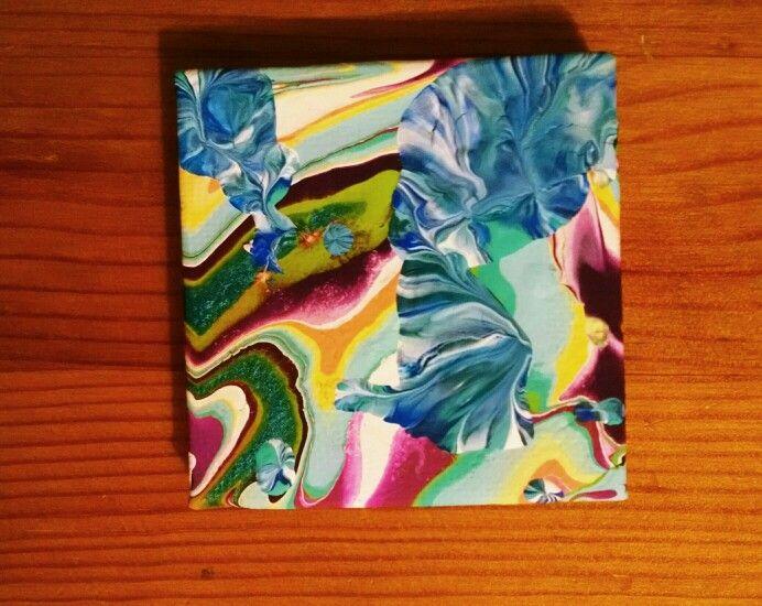 Fluid art on canvas by miranda pitrone