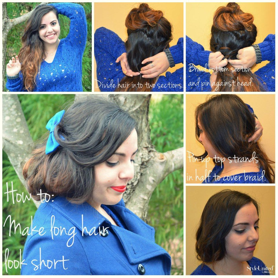 How To Make Long Hair Look Short This Isn T Really Hairum Scarum Relevant More Little Women Kaytewilliams Hair Tutorial Pretty Hairstyles Hair Looks