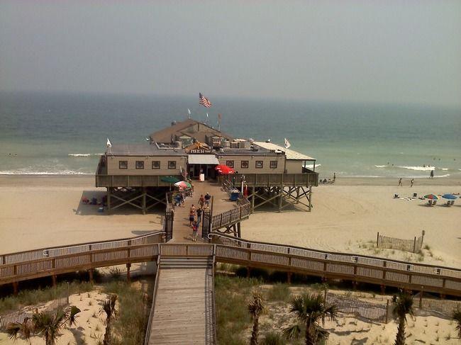 Pier 14 Restaurant Over The Atlantic Ocean Myrtle Beach Sc