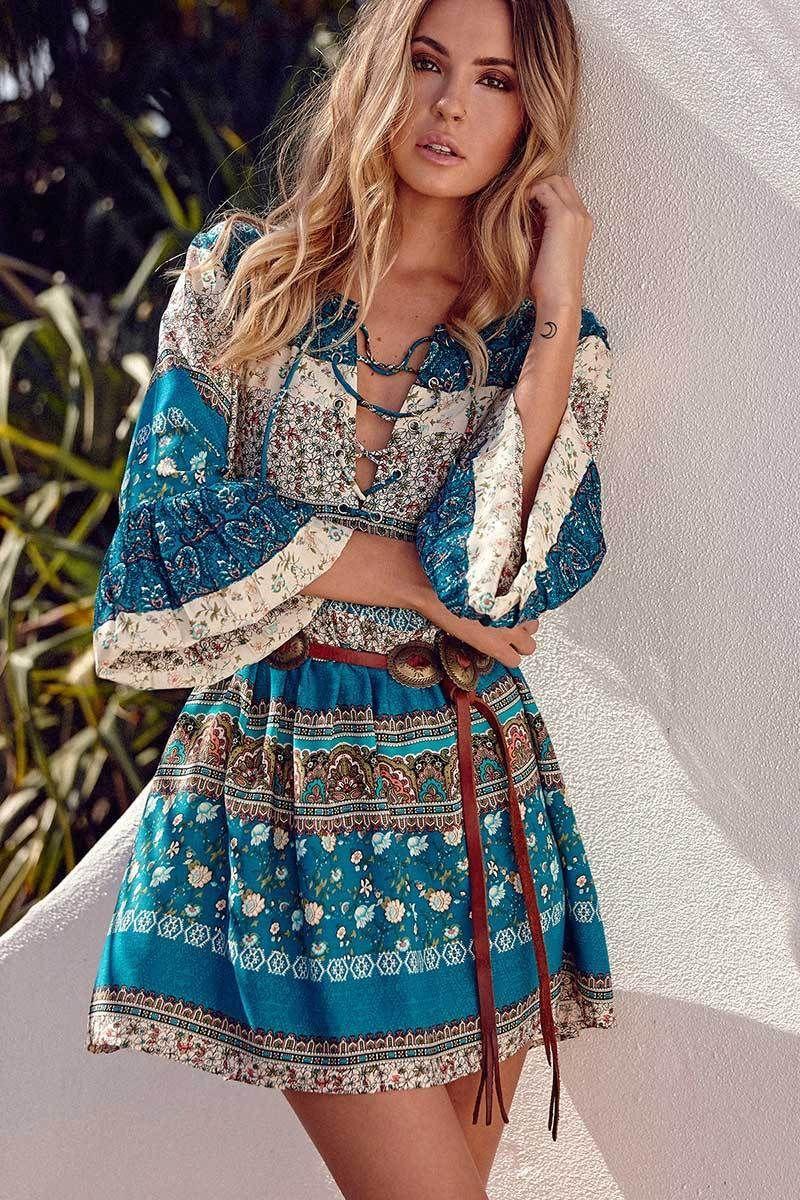 aae1f99e37b Desert Spell Bohemian Short Dress in 2019