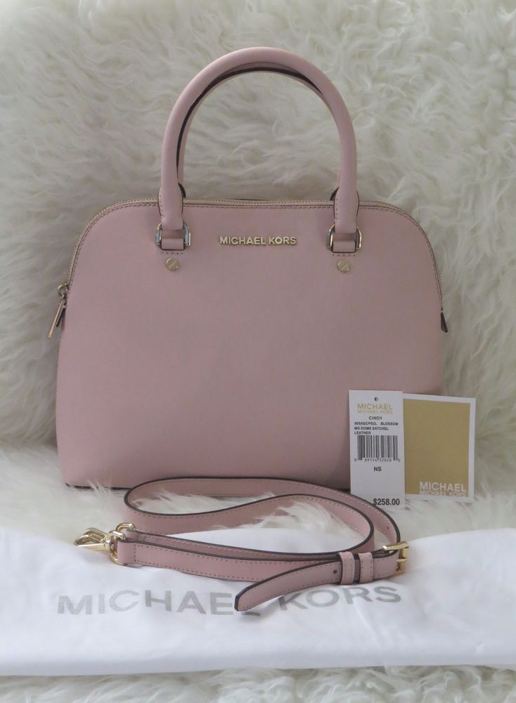 Michael Kors Medium Cindy Dome Satchel Saffiano Leather in