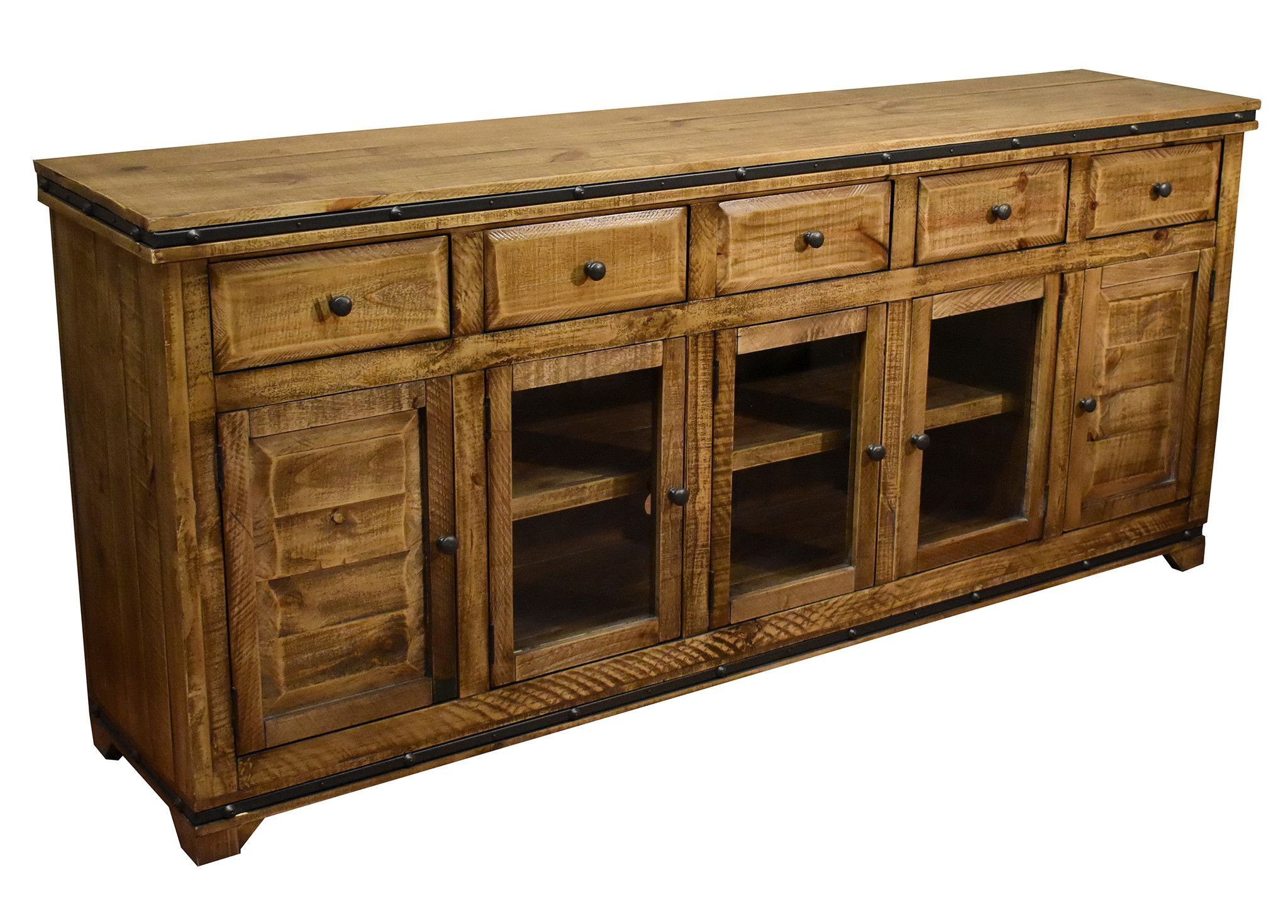Addison Rustic 82 Inch Tv Stand Sideboard Light