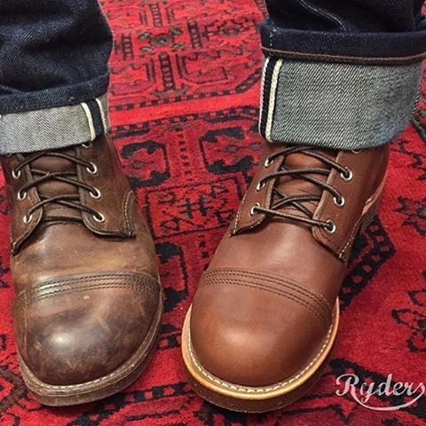Red Wing 8111 Iron Ranger Worn almost daily for 14 months and a new one. Keeping it old! . . . #redwingheritage #ironrangers #8111#instaclothes #instaboot #instashoes #instacasual #vscocasual #vscocam #vsco #vscostyle #vscofashion #vscoman #vscodapper #rawdenim #denim #instaman #dapper #casual #supercasual #ryders #lörrach #basel #freiburg #myredwings #redwings