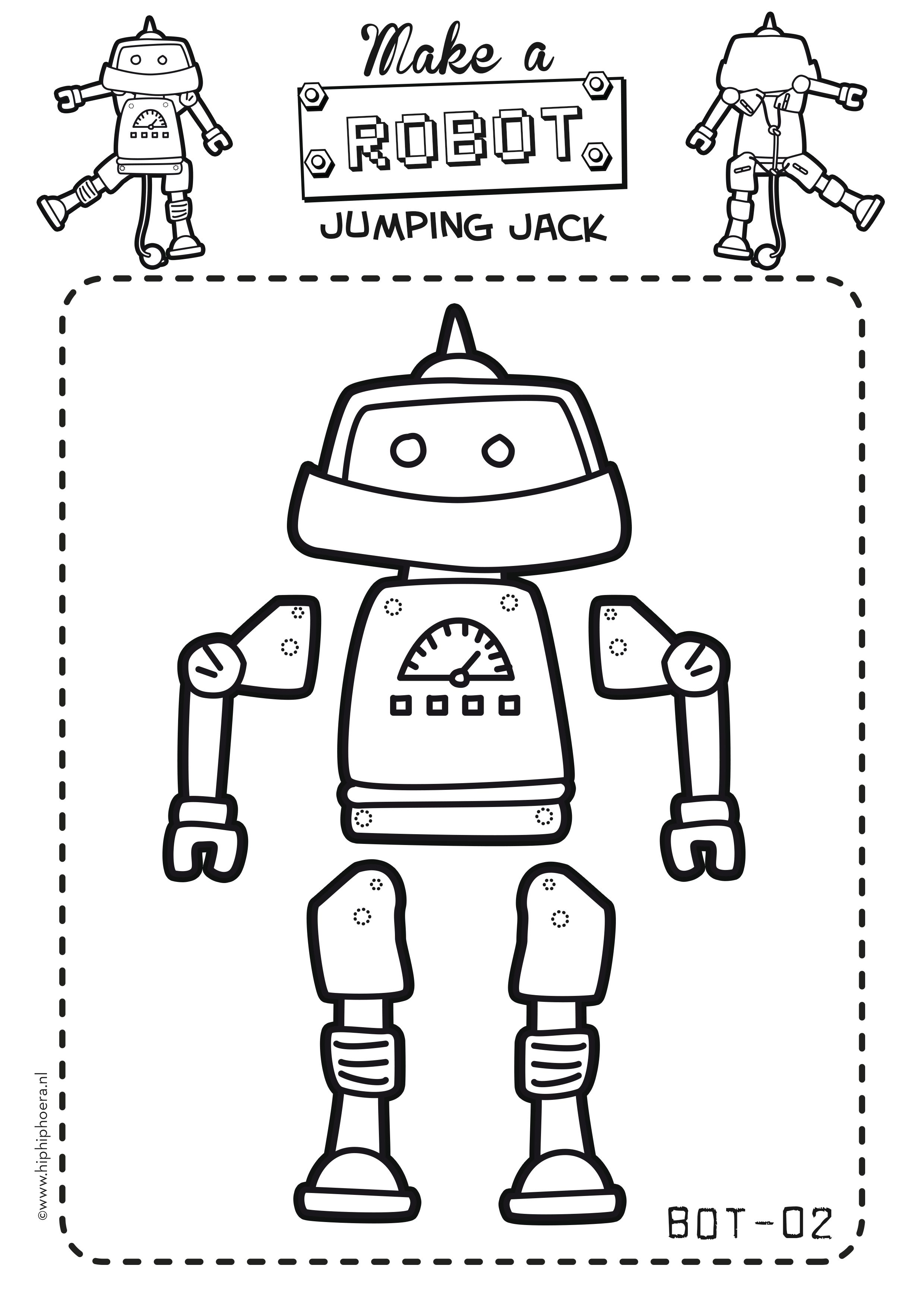 Make your own robot jumping jack! By: hiphiphoera.nl