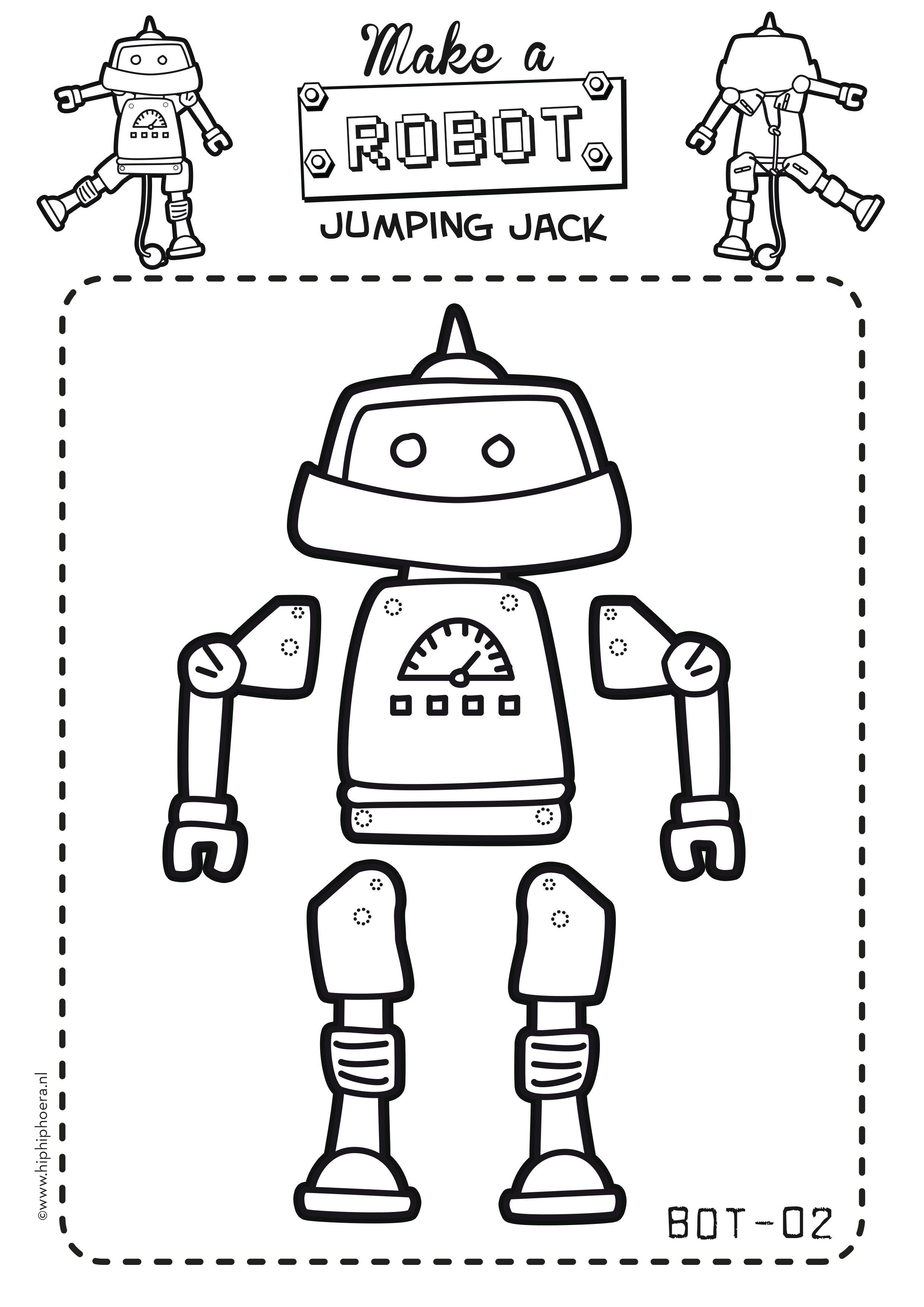 make your own robot jumping jack by crafts pinterest craft. Black Bedroom Furniture Sets. Home Design Ideas
