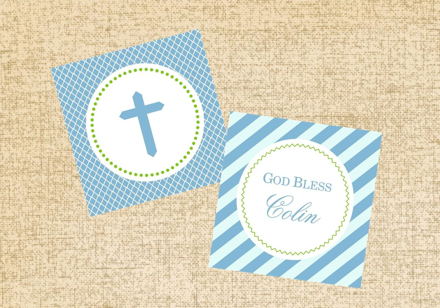 2 dozen Baptism Cupcake Toppers tags. $10.00, via Etsy.
