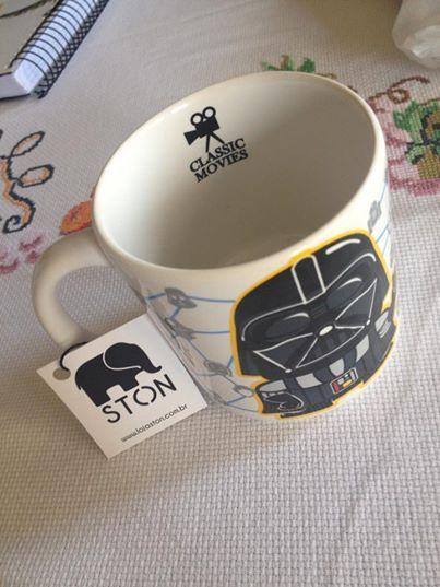 Caneco do Darth Vader estilizado, comprado em São Paulo na loja da Ston  Darth Vader Mug