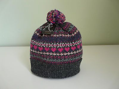 New #monsoon accessorize #ladies grey pink fair isle wool #angora winter bobble h,  View more on the LINK: http://www.zeppy.io/product/gb/2/262248810019/