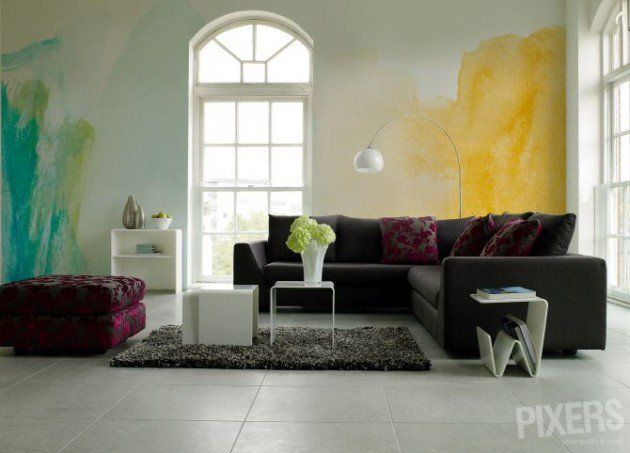 The Coolest 25 Watercolor Wall Designs