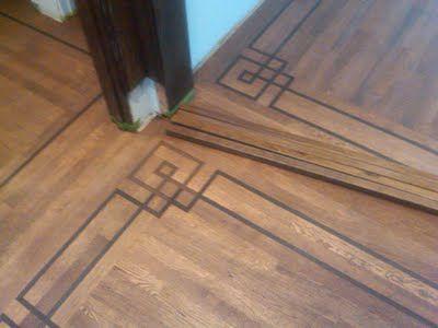 Beautiful Celtic Knot Wood Floor Embellishments No Rug