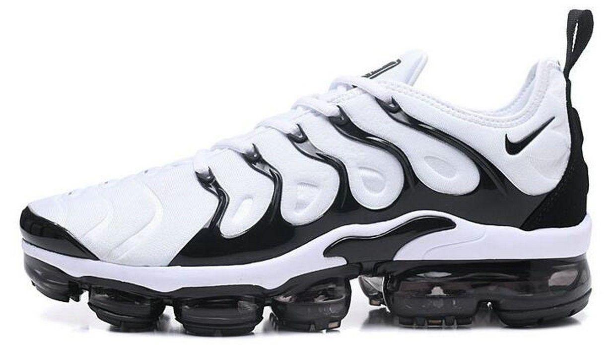 sports shoes 04a1d c2da8 ... running scarpe  nike air max plus tn tn 2018 bianca nero uomini scarpe  da corsa sneakers