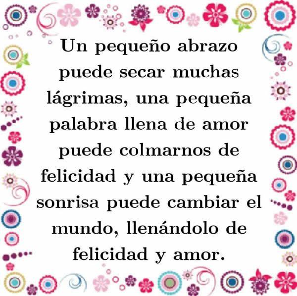 Felicidad Y Amor Frases Bonitas Frases Pinterest Amor Frases