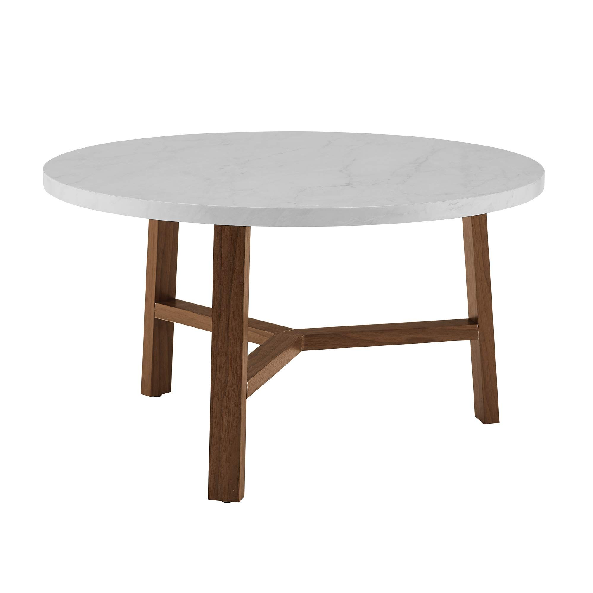 We Furniture Azf30emctpc Coffee Table 30 White Marble And Acorn Check Out The Image By Vi In 2020 Round Coffee Table Modern Coffee Table White Round Coffee Table [ 2000 x 2000 Pixel ]