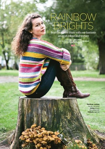 Issue 48, on sale now! | Inside Crochet - this is my latest design!