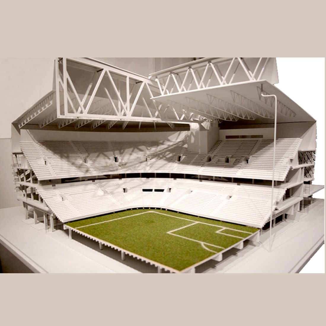 3d Architectural Stadium Model Roof Wood Couch Paints