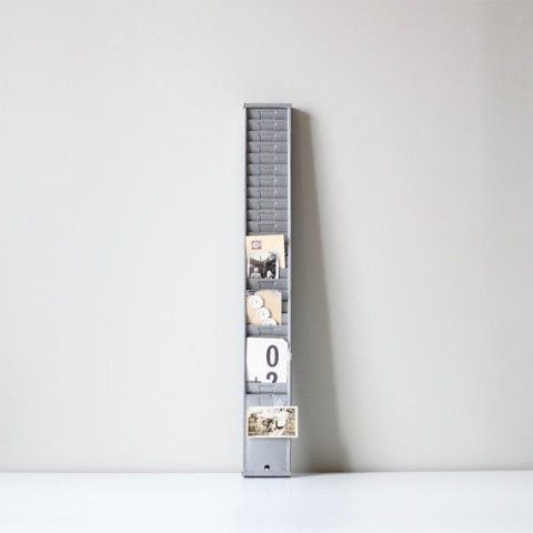 vintage time card rack - cute way to display photos Studio - time card