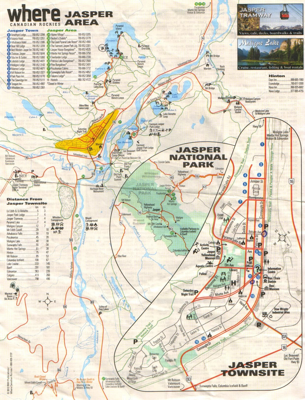 Jasper Alberta Townmap Travel Tips And Maps Pinterest - Map of jasper oregon