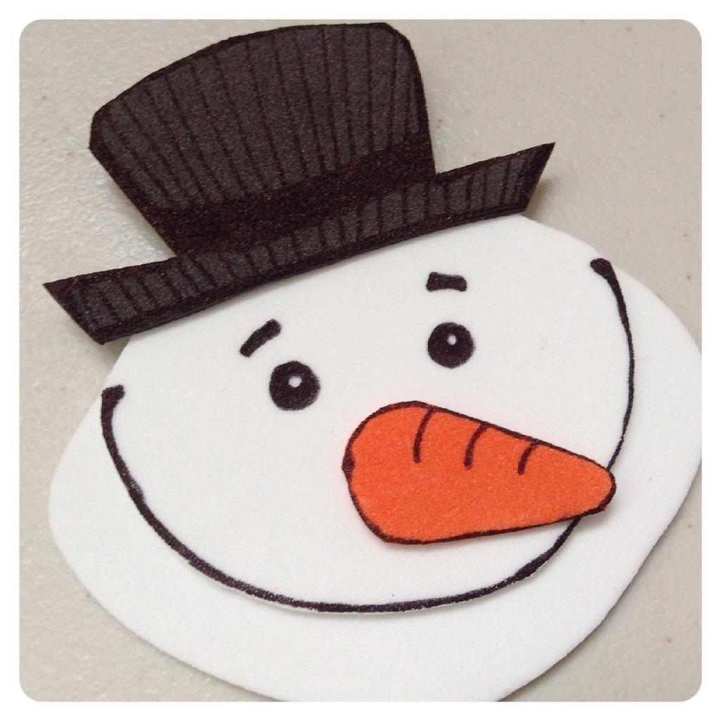 Marcalibros navideños: Un muñeco de nieve letrado | Aprender manualidades es facilisimo.com