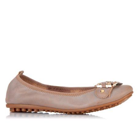 Django & Juliette Bellez Buckle Detail Leather Ballet Flat. Leather Ballet  FlatsFashion ShoesConfidence