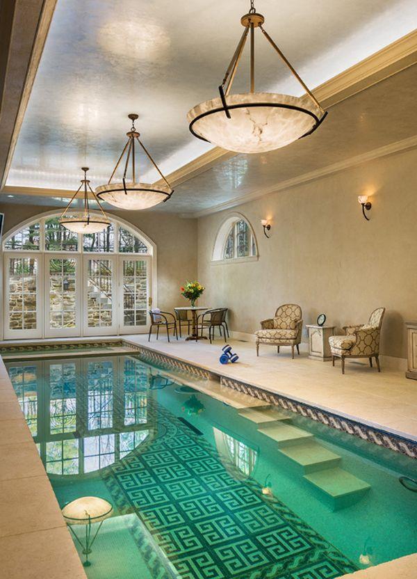 50 ridiculously amazing modern indoor pools wishful thinking rh pinterest com