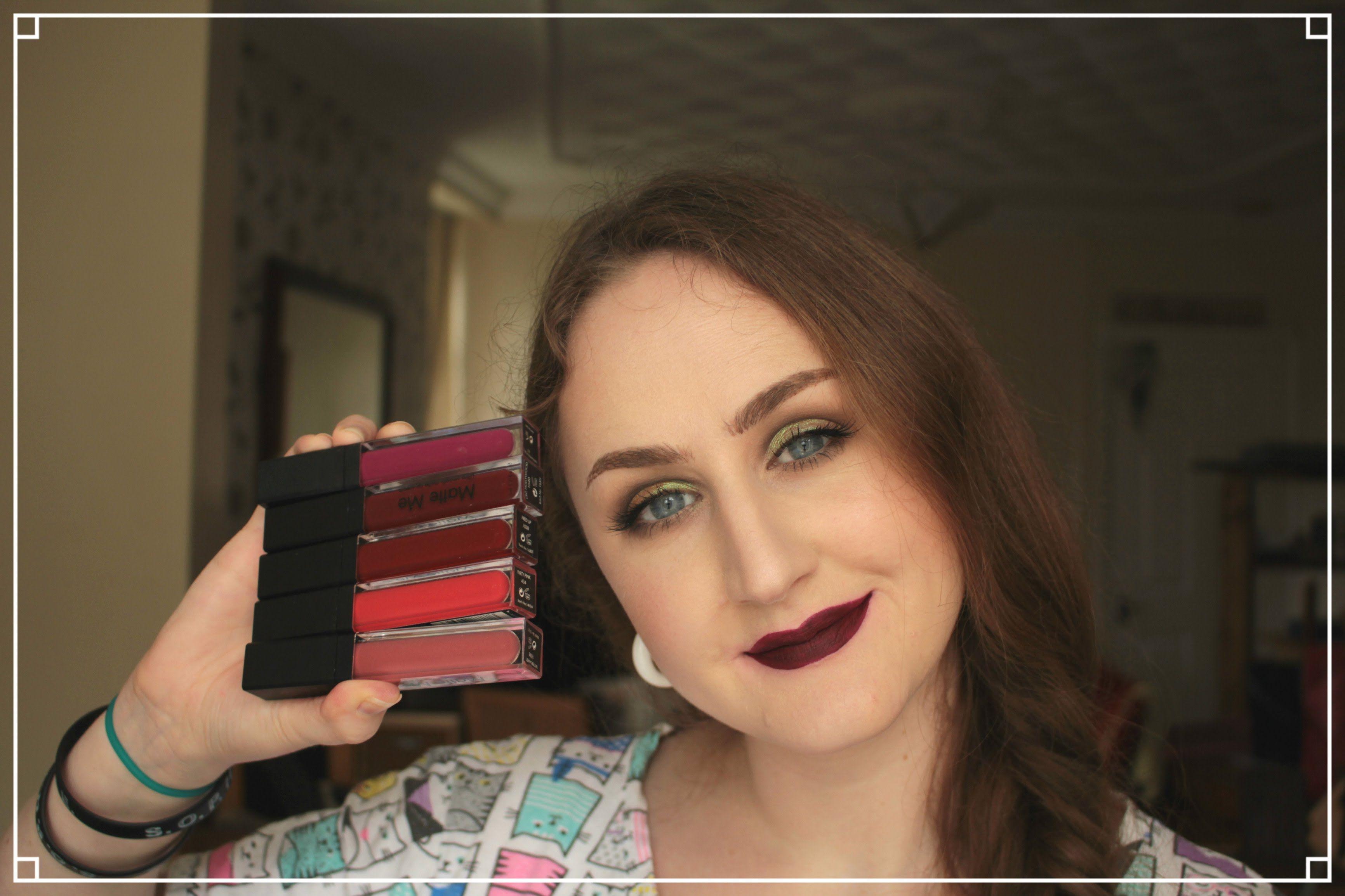 Sleek Matte Me Lip Swatches #sleek #mattelipstick #liquidlipstick #boots #superdrug #affordable #bargain #makeup #lipswatches