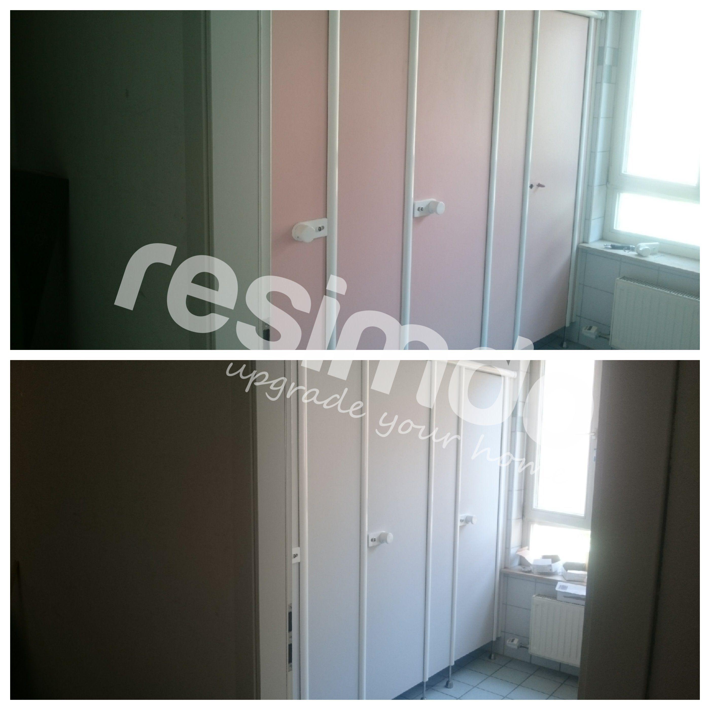 Badezimmer #renovieren #rot #Möbel #Folie #upcycling #schönerwohnen ...