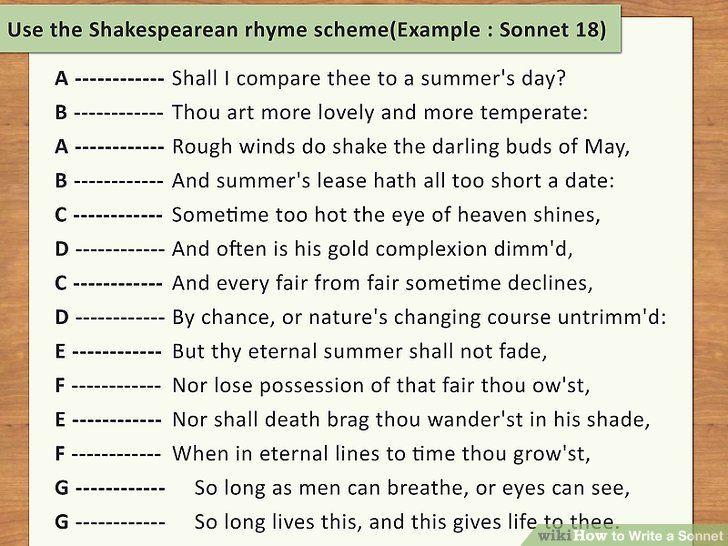 Write A Sonnet Journal Write Sample Poems Poem
