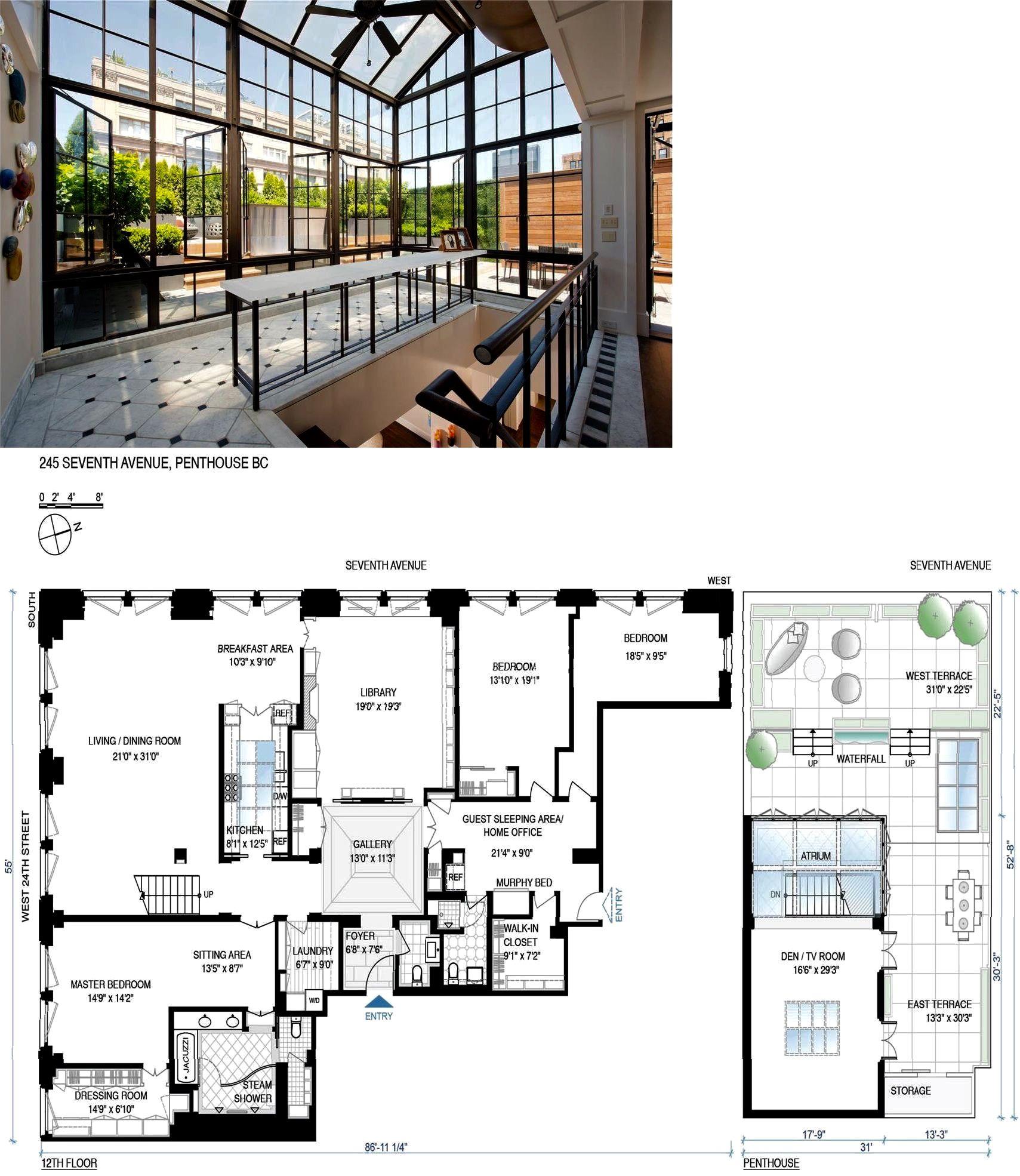 Chelsea Atelier 245 Seventh Avenue Phbc Chelsea New York Douglas Elliman Penthouse Apartment Floor Plan New York Apartment Luxury Loft Floor Plans