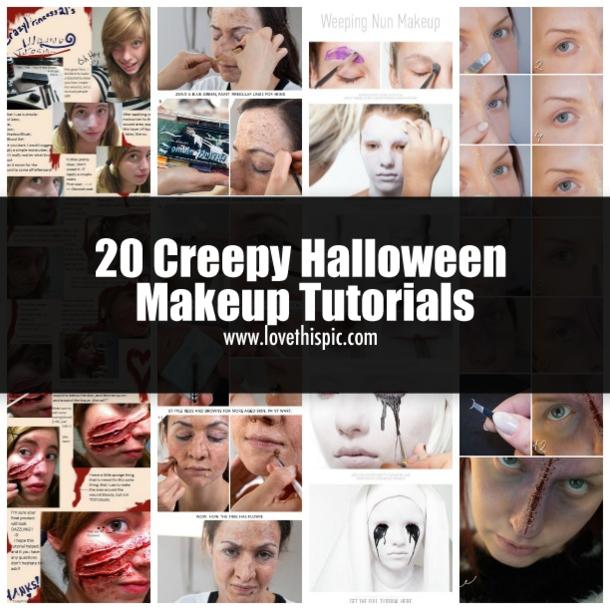 20 Creepy Halloween Makeup Tutorials halloween halloween makeup ideas halloween…