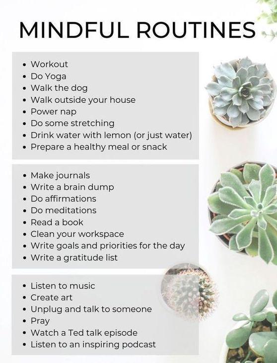 Easy Go-To Self Care Checklist