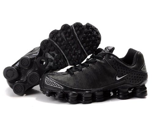 aba524b0185d20 All Black Nike Shox Mens