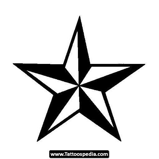 Star Tattoo | Coloring | Pinterest | Tattoo, Nautical star and Tatoos