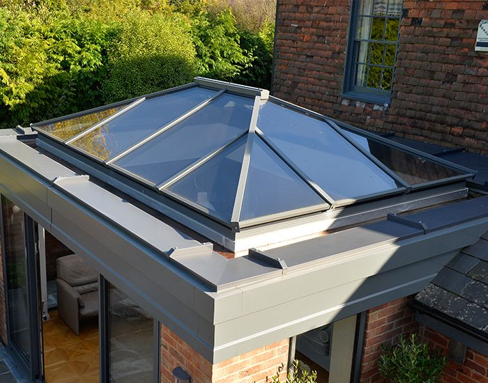 XACT Aluminium Roof Lantern. A premium quality slimline thermally broken aluminium roof lantern to bring light into an extension, new build or a garden room