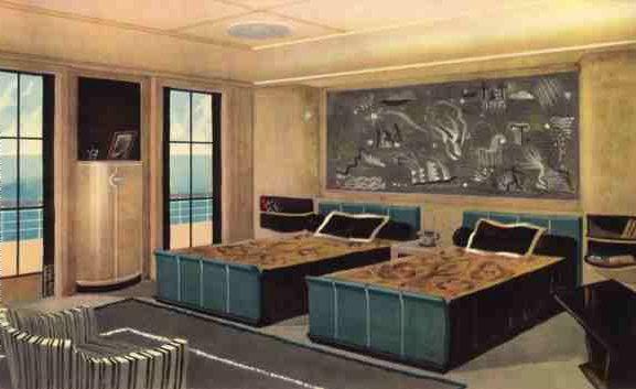 Paul Iribe - Illustration \'Le Normandie\' - La Chambre d\'un ...