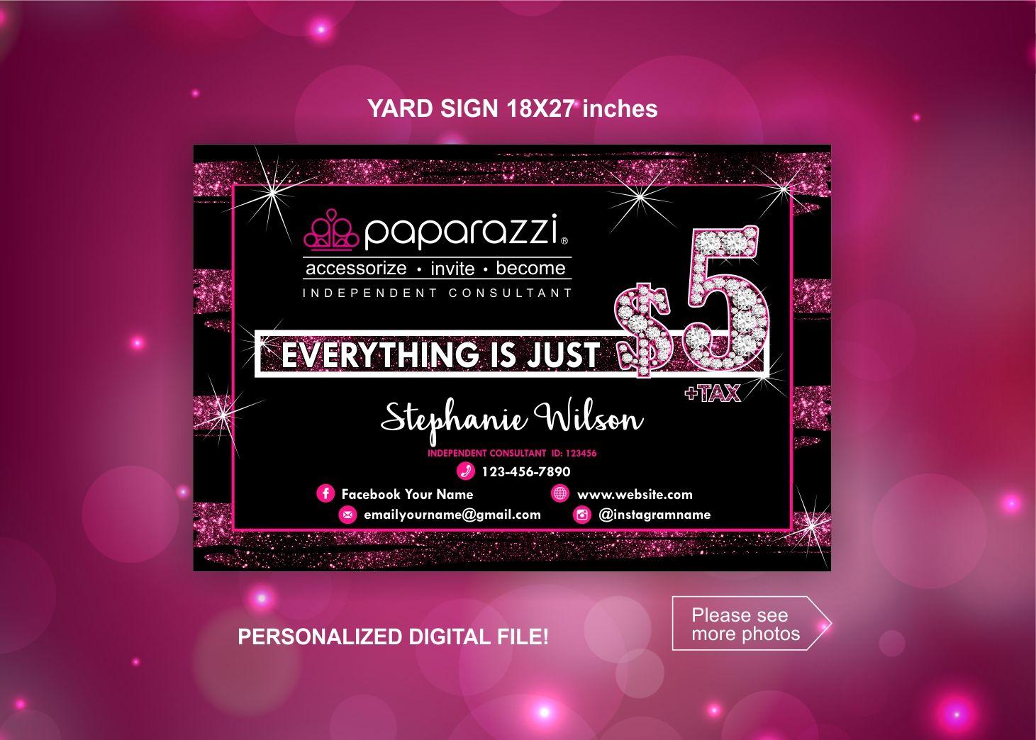 Paparazzi Yard Sign Paparazzi Shop Banner Paparazzi Pop Up