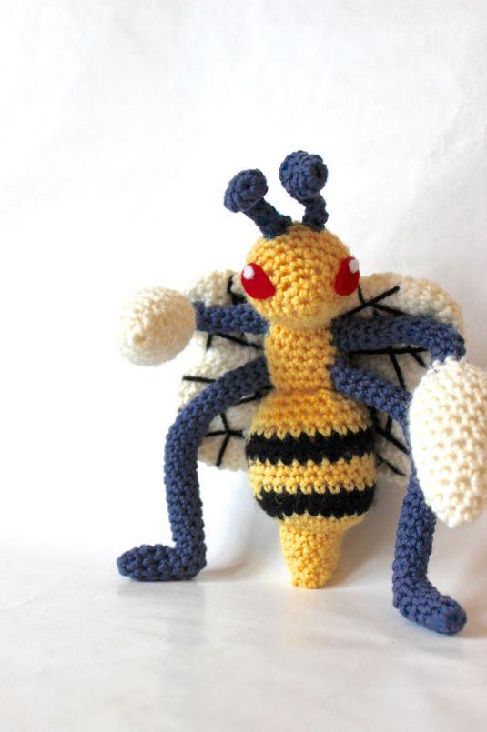 beedrill made by pokemon crochet challenge | Pikachu | Pinterest ...
