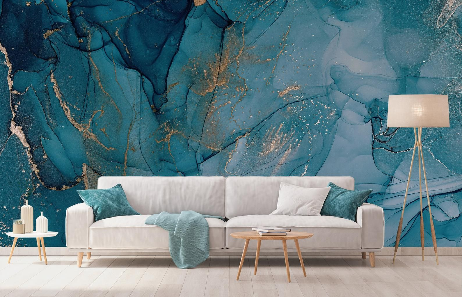 Aquarel Blue Marble Behang Abstract Turquoise En Gold Wall Etsy Blue Marble Wallpaper Marble Wallpaper Watercolor Wallpaper