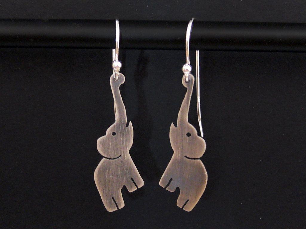 Elephant Earrings - Sterling Silver Elephant Jewelry - Fun ...