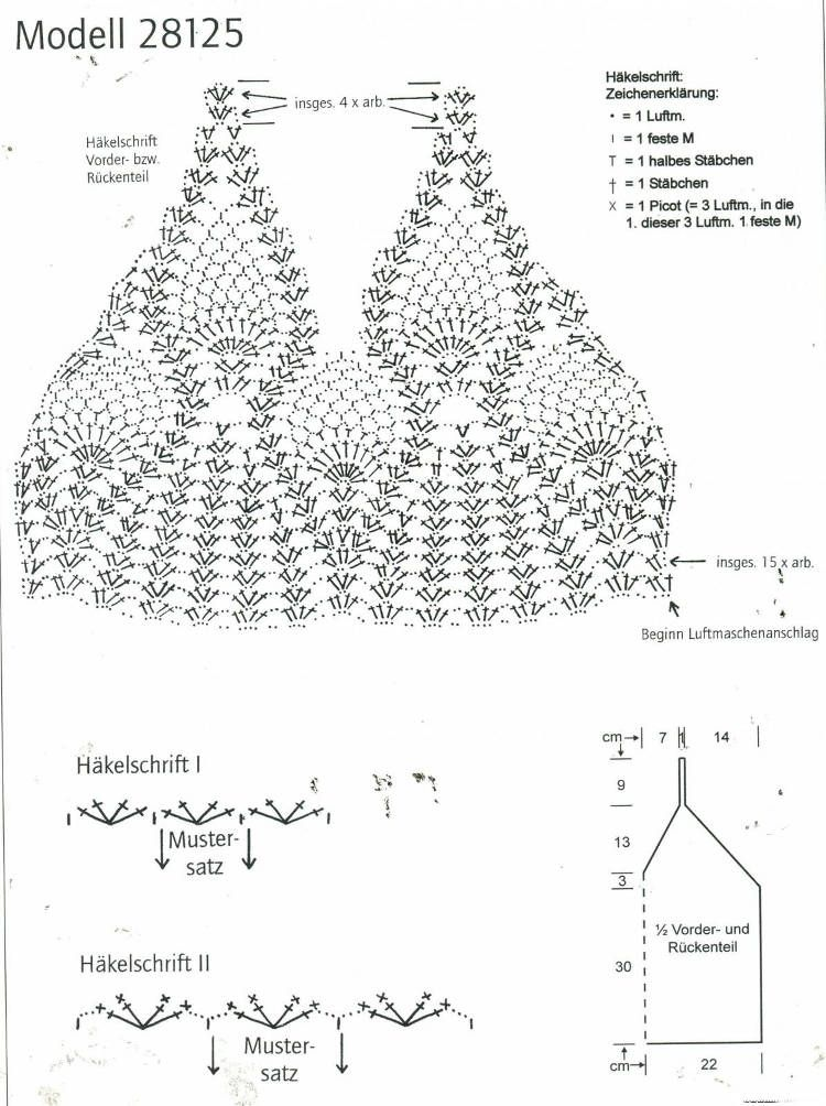 crochet pineapple halter top diagram pattern bikini 3 crochet pineapple halter top diagram pattern ccuart Images